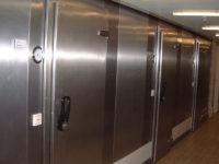 Chromium nickel steel freezer rooms